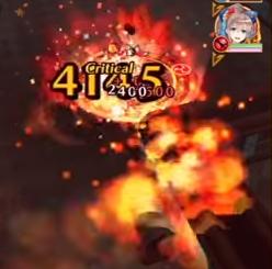 コリン(拳)スキル2はテトライダーS2のような炎操作